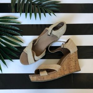 TOMS Burlap and Cork Wedges